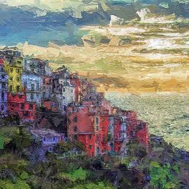 Overview of Corniglia - Cinque Terre - Italy by Rita Di Lalla