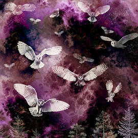 Owls Gathering  by Grace Iradian
