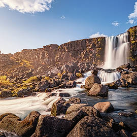 Oxararfoss Waterfall in Iceland by Alexios Ntounas