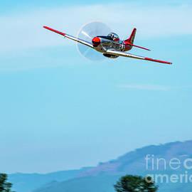 P-51D Val-Halla Ripping Low Thru Skagit Blue Skies by Joe A Kunzler