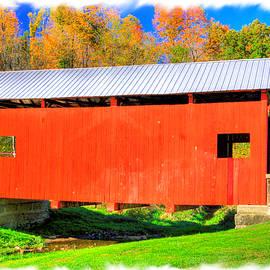 PA Country Roads - Brownlee Covered Bridge Near Dutch Fork, Mc Guffey Park # 3PF - Washington Cty by Michael Mazaika