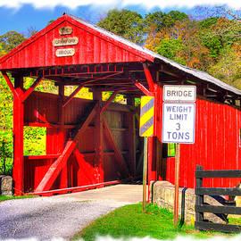 PA Country Roads - Crawford Covered Bridge Over Robinson Fork, Wheeling Creek #1A - Washington Cty by Michael Mazaika