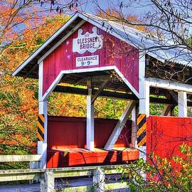 PA Country Roads - Glessner Covered Bridge Over the Stonycreek River No. 3, Somerset County by Michael Mazaika