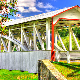 PA Country Roads - Halls Mill Covered Bridge Over Yellow Creek - Hopewell Township, Bedford County by Michael Mazaika