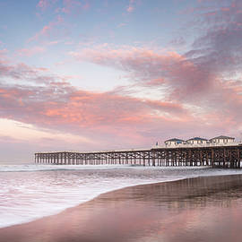 Pacific Beach Pier Colorful Sunrise by William Dunigan