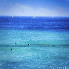 Paddle Board And Sail by Michele Hancock