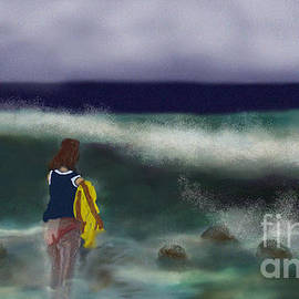Paddle through the rocks and seedweed 2020 by Julie Grimshaw