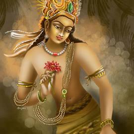 Padmapani ancient Indian Painting by Anjali Swami