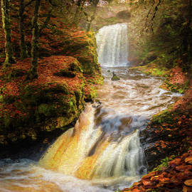 Painted Falls in the Fall by Gareth Burge Photography