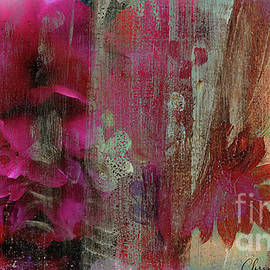 Painted Peonies Abstract by Chris Armytage