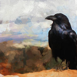 Painted Raven by Terry Davis