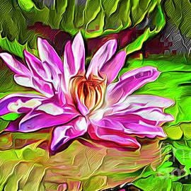 Painted Waterlilies by Trudee Hunter