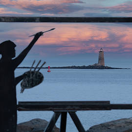 Painting a Whaleback Sunset by Jeff Folger