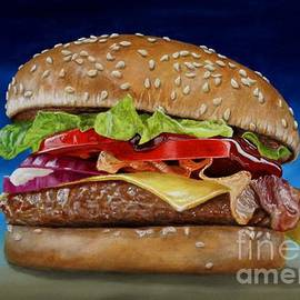 Painting Cheeseburger by BS Leoni