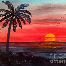 Palm Island Sunset by Lee Piper