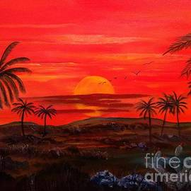 Palm Trees Sunrise by Lee Piper