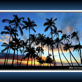 Palms in Paradise - RD-561 - A group of palm trees are silhoutted at sunset by Rob DeCamp