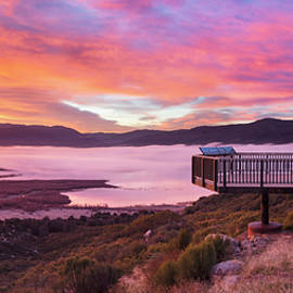 Palomar Mountain Observation Deck at Sunrise by William Dunigan