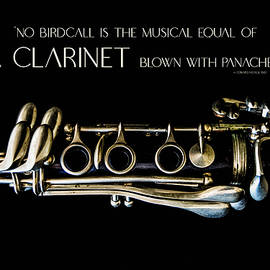 Panache    Minimalist Clarinet Photo with Quote by Nancy Jacobson