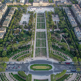 Panorama of Champs des Mars Field in Paris by John Twynam