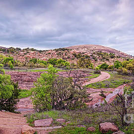 Panorama of Enchanted Rock State Natural Area - Fredericksburg Gillespie County Texas Hill Country by Silvio Ligutti