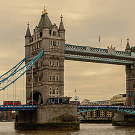 Tower Bridge over Thames River London England UK by Enzwell Designs