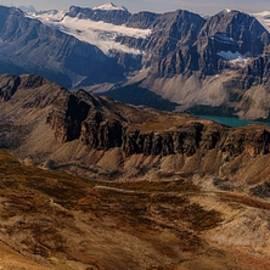 Panoramic View o Bow Lake, Crowfoot Glacier, Bow Glacier, Banff National Park by Yves Gagnon