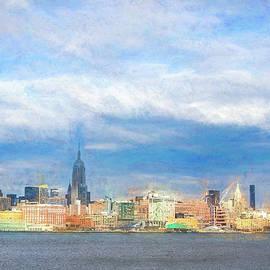 Panoramic View of New York Skyline by Helen Filatova