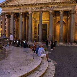 Pantheon from Piazza della Rotonda in Rome by Artur Bogacki