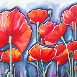 Parade of Poppies version I by Sheila Diemert