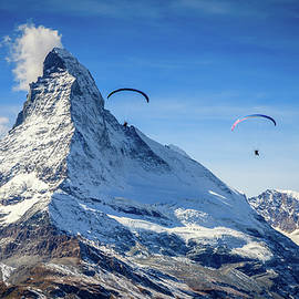 Paragliding in Swiss Alps by Alexey Stiop