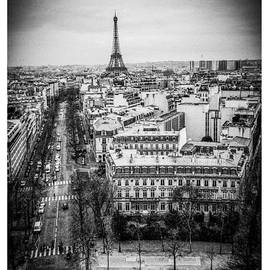 Paris Cityscape from a roof top  by Cyril Jayant