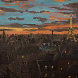 Paris Painting by Ken Figurski