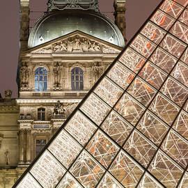Paris - Le Louvre museum and pyramid by Olivier Parent