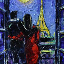 PARIS MON AMOUR - Palette Knife Oil Painting Mona Edulesco by Mona Edulesco