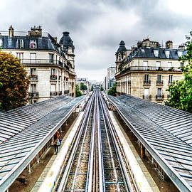 Paris Railway To Infinity And Beyond by Paul Thompson