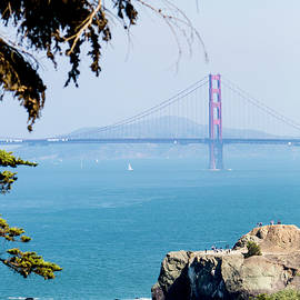 Partial View Of The Golden Gate Bridge by Her Arts Desire