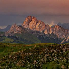 Passo Giau Sunset Sky by Norma Brandsberg