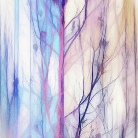Pastel Abstract Tree by Terry Davis