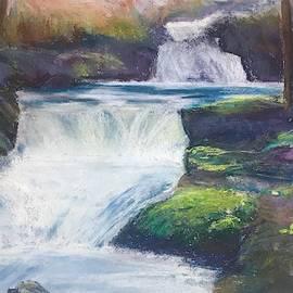 Pastel Painting River by Karen Harding