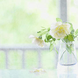 Pastel Roses by Elaine Teague