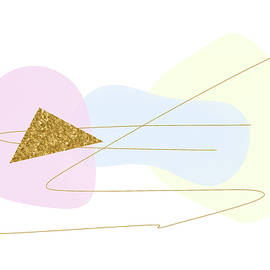 Pastels with Gold Triangle Two of Two by Alison Frank