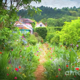 Path Through Claude Monet's Garden, Giverny, Painterly by Liesl Walsh