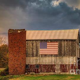 Patriotic Pennsylvania Barn by Janice Pariza