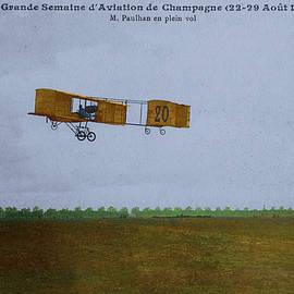 Paulhan in Flight 1909 by Doug Matthews