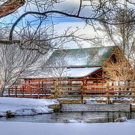 Pavillion In Winter by Donna Kennedy