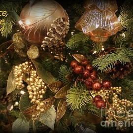 Peace Love Joy - Holiday Greeting by Dora Sofia Caputo