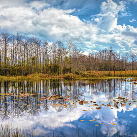Peaceful Autumn Reflections on the Everglades by Debra and Dave Vanderlaan