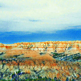 Peaceful Badlands  by Ally White