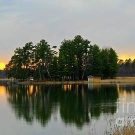 Peaceful Evening Sunset by Ann Brown